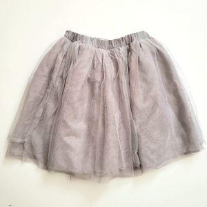 Old Navy Girl's Tulle Skirt Silver 3T